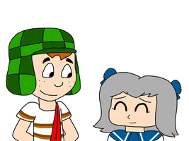 Chavo with April by SuperMarcosLucky96