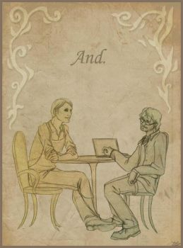 Hannibal - Coffee Shop AU - Sketchy by Schu-was-here