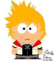 Roxas in South Park Form by Theangelicone
