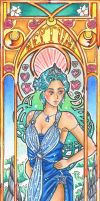 Sailor Neptune Mucha style by Carcondis