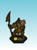 Nurgle Champion with halberd by Nergling