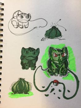 Bulbasaur sketchs by ansem-the-dead