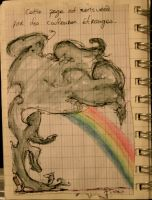 Rainbow in a cigarette smoke by Piou-plume
