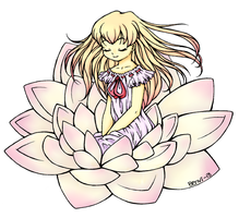 Waterlily  Lineart  By BenyiHS Colored by DesiPooted