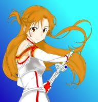 Colored line art. Asuna Sword art online by Addisionella