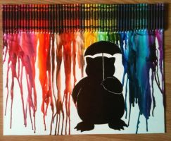 Snorlax Melted Crayon Art by Remelox