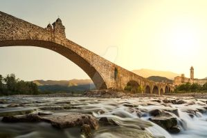 MG 7303 Bobbio's bridge by StarryEyedFineArt