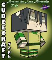3D Toph as a cubeecraft Avatar The Last Airbender by SKGaleana