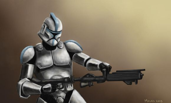 Clone Trooper by mylesillustration