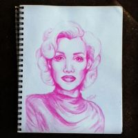Pink Marilyn by doll-hair219