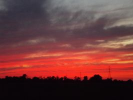Red Sky At Night I by soon2bMrsEvans