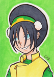 Sketchcard - Toph by StineTheKitty