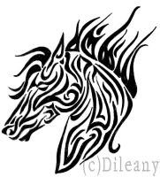 Horse tribal by Dileany