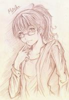 Girl with Glasses by Erde27