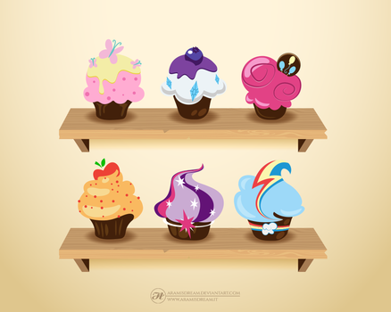 My Little Pony Cupcakes by Aramisdream