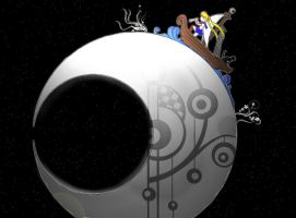 Sailor sailing on the moon by Dantefx