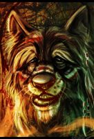 Old Shaman Wolf by Autlaw