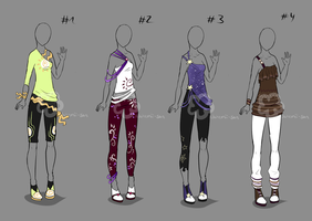 Some Outfit Adopts #18 - sold by Nahemii-san