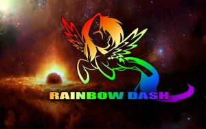 Rainbow Dash Wallpaper by WizE-KevN