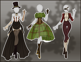 (CLOSED) Adoptable Outfit Auction 43-45 by Risoluce