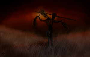 Speedpaint Challenge: Horror Scarecrow by A-Pancake