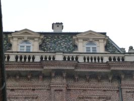 Roof with Dormers and Ornamental Balaustrade by XiuLanStock
