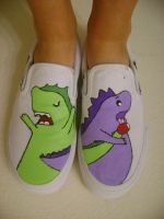 desandnate dino shoes. by ohhai69