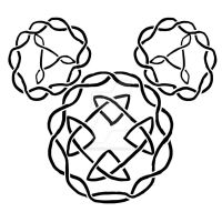 Celtic Knot Mickey Symbol by AokitianWolf
