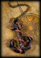 Antique Anchor Necklace by NeverlandJewelry