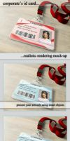 Corporates Id Holder Mockup by TeoNikif