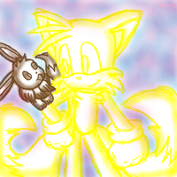 Tails and Eevee by PokeSonFanGirl