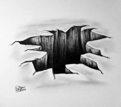 3D Hole Drawing - Optical Illusion by LethalChris