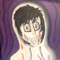 Jeff The Killer Painting by Chaoslink1