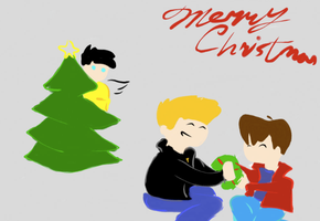 A Very Merry Secret Santa, 2012 (Just the Drawing) by BecomingaWallflower