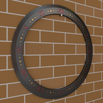 Time of Death Chakram 3D (Perspective View) by Shadow696