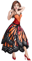 Monarch Butterfly Dress by Crazy-Lola