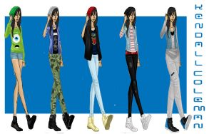 FA-Kendall Coleman Outfits by Dark-angel-star