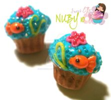Summer Cupcake Studs by colourful-blossom