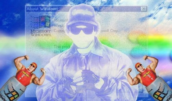 Eazy-E in Vaporwave Heaven by SO-Remixer