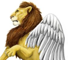 winged lion by heavenhel