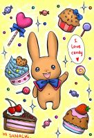I LOVE CANDY - bunny by SANACHI