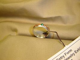silver ring with copper inlay by Marcusstratus