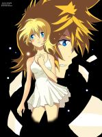 Namine and Roxas by guto-strife-1