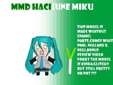 MMD my new hachune miku + DL by bawicho