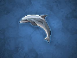 Dolphin Bliss 1600 x 1200 by costermonger