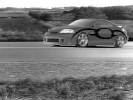Hyundai Coupe in a landscape by misteranwa