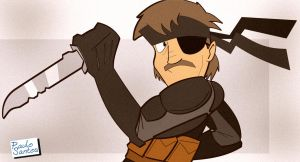 Solid Snake by Captain-Paulo