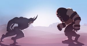 Rhino vs Juggernaut by Juggertha