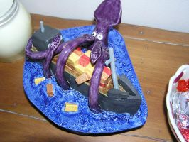 Giant Squid Attack by DigiPad