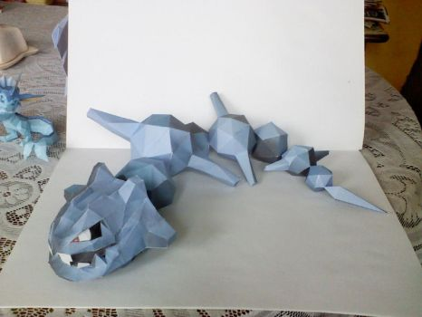 Steelix papercraft by Weirda-s-M-art